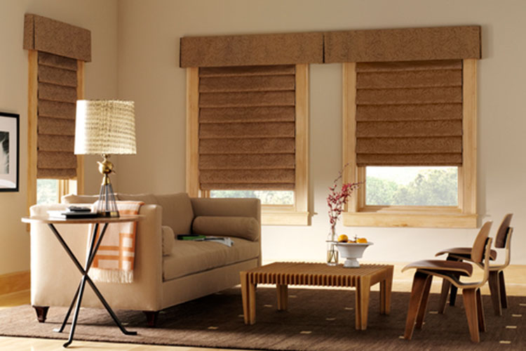 Vignette® Modern Roman Shades with Decorative Valance
