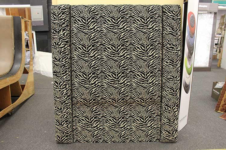 custom upholstery zebra print