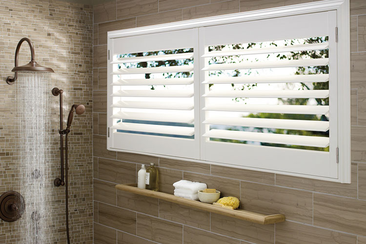 Palm Beach® Polysatin Shutters Open View
