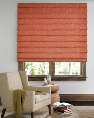 Designer Roman Shades with Folds