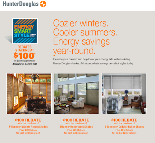 Hunter Douglas window shades sale