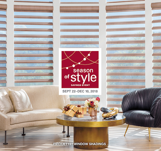 TWG Fabrics home store savings event on Hunter Douglas window blinds